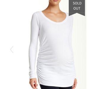 LAmade white long sleeve maternity top